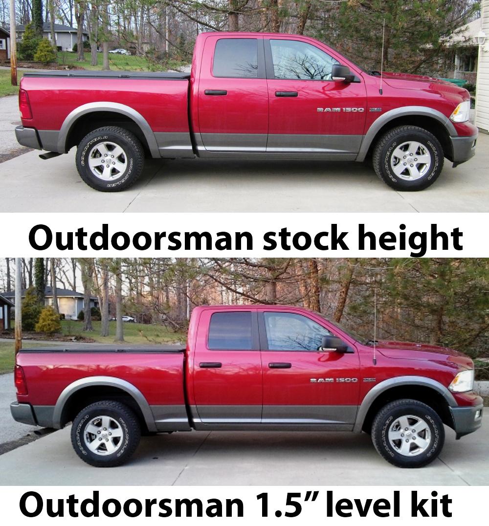 2017 Ram 1500 Leveling Kit >> 2006 2018 Dodge Ram 1500 Or Dakota 1 5 Leveling Kit Auto Spring Corp